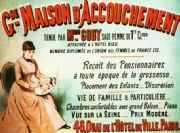 Vintage French advertising poster; Maison d' Accouchement, Birthing Home